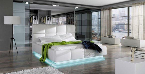 wasserbett bett betten komplett lederbett polsterbett mit matratze neu asti. Black Bedroom Furniture Sets. Home Design Ideas