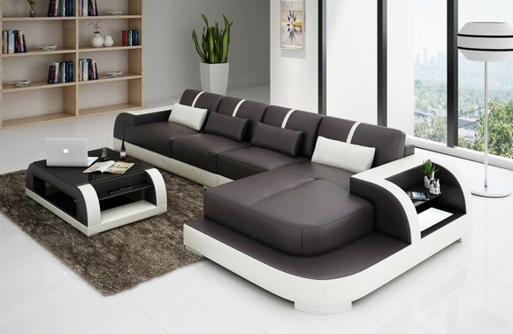 sofas ledersofas luby bettfunktion designersofa ecksofa. Black Bedroom Furniture Sets. Home Design Ideas
