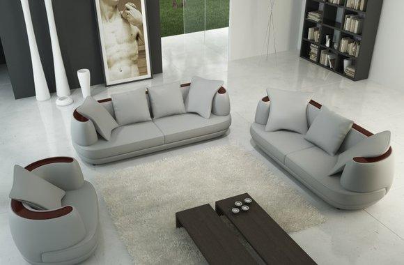 Sofagarnitur Couch Polster Leder Sofa 321 Klassische Couchen Royal