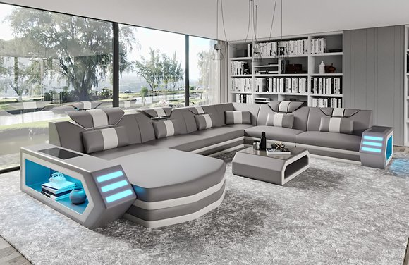 Gunstige Echtleder Couch Designer Zum Billigen Preis Wohnlandschaft