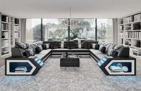 Günstige Big Sofa Wohnzimmer Couch Moderne Garnitur Große ...