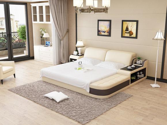 Wasserbett Hotel Doppel Bett Betten Komplett Lederbett Polsterbett Wasser  LB8820