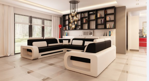 sofas und ledersofas stuttgart 4 bettfunktion designersofa ecksofa jv m bel. Black Bedroom Furniture Sets. Home Design Ideas