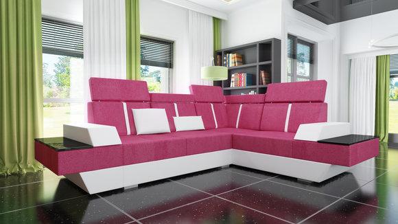 Sofas und ledersofas le mans ii bettfunktion designersofa for Ecksofa textil