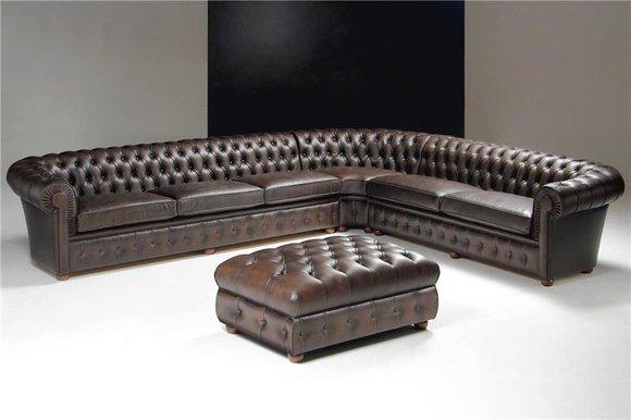 chesterfield ledersofa ecksofa couch wohnlandschaft antik polster garnitur. Black Bedroom Furniture Sets. Home Design Ideas