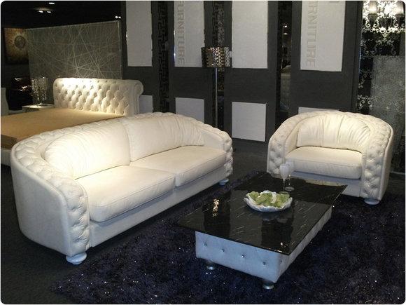 Luxus ledercouch  Chesterfield Sofas und Ledersofa A980 Designersofa Sofagarnitur JV ...