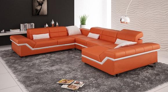 Wohnlandschaft Orange Sofa Couches Wohnlandschaften