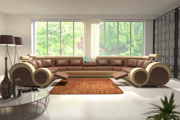 jvmoebel ledersofa couch sofa ecksofa modell berlin iv u form. Black Bedroom Furniture Sets. Home Design Ideas