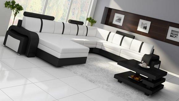 Wohnlandschaft design  Ledersofa Leopold Couch Ecksofa Sofagarnitur Designer Sofa ...