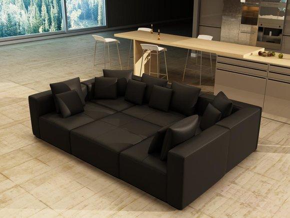Couch Sofa Wohnlandschaft Ecksofa Multifunktionale Stellweise