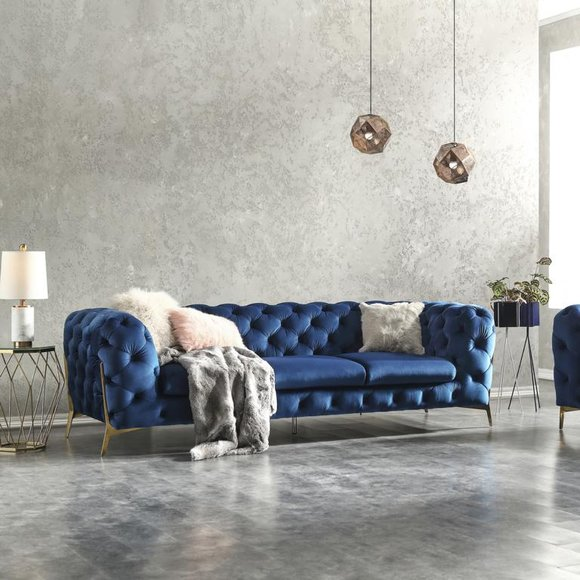 Chesterfield Samt Couch Sofa Polster Sofagarnitur Garnituren Xxl Big