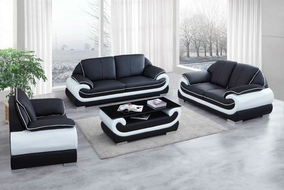 Klassische Design Sofagarnitur 3+2 MODELL 0615 aus 2-/ 3 ...