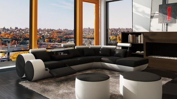 Xxl Multifunktions Ledercouch Couch Big Sofa Polster Ecksofa Moderne