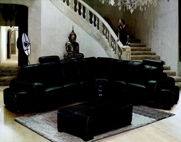 Xxl Multifunktions Ledercouch Couch Sofa Polster Ecksofa Moderne Big