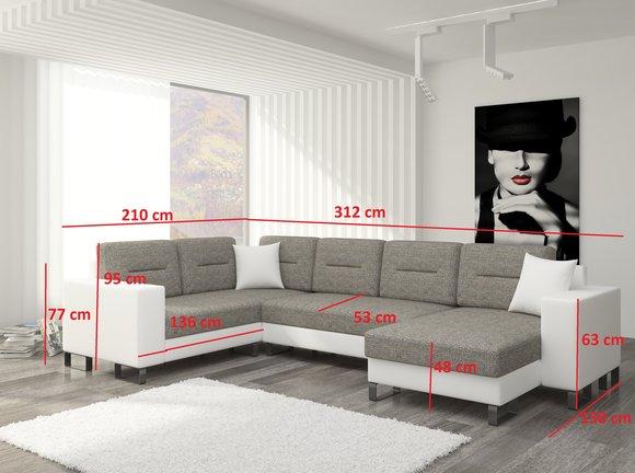 Wohnlandschaft U Form Moderne Wohnzimmer Ecksofa Couch Eck Garnitur ...