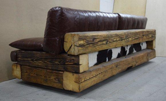 rustikales Designer Sofa Top-Qualität Antik Stil Premium ...