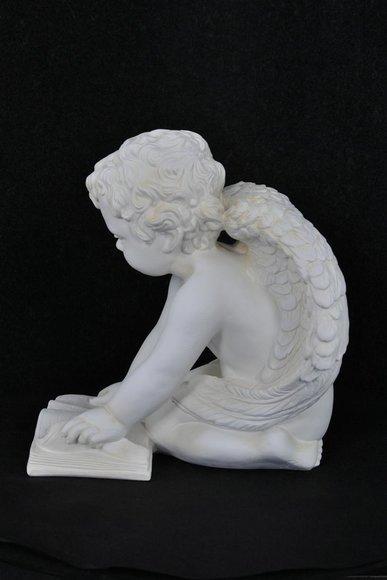 Figur Skulptur Engel mit Buch 36,5cm  Skulpturen Figuren Statue Statuen PG0630