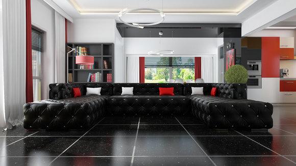 Chesterfield wohnlandschaft  Chesterfield Sofas und Ledersofas A916 Designersofa bei JV Möbel