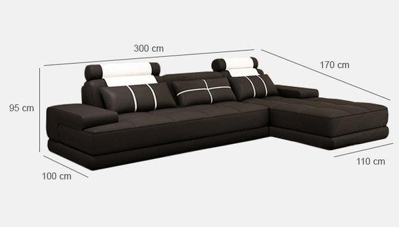 Ecksofa Polster Couch Sofa Wohnlandschaft Sitz Eck Garnitur Leder Textil Paris