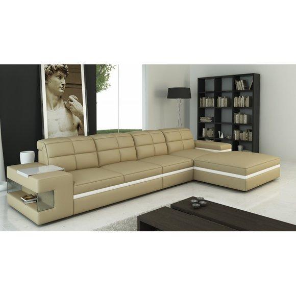 Ecksofa Sofa L Form Couch Polster Designer Leder XXL ...