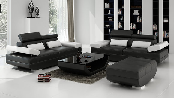 Ledersofa Sofa Couch Wohnlandschaft 3 3 Garnitur Design Modern Sofa