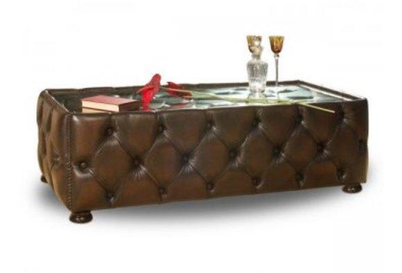 LAWA Couchtisch Tisch Tische Glastisch Chesterfield Möglich: Leder Textil Samt Stoff