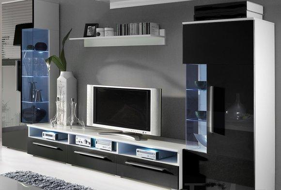 moderne wohnw nde und wie designer wohnwand roma von jv m bel. Black Bedroom Furniture Sets. Home Design Ideas