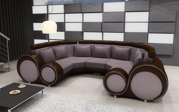 sofa in u form sofa mit con big u form details about sectional leather bellagio und braun. Black Bedroom Furniture Sets. Home Design Ideas