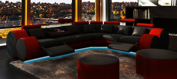 jvmoebel ledersofa design ecksofa madrid mit relaxfunktion. Black Bedroom Furniture Sets. Home Design Ideas