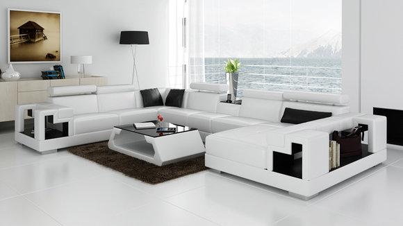 Ledersofa Sofa Couch Wohnlandschaft Ecksofa Eck Garnitur Design ...