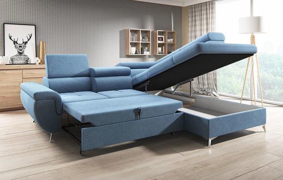 Stoff L Form Couch Wohnlandschaft Ecksofa Garnitur Modern Design