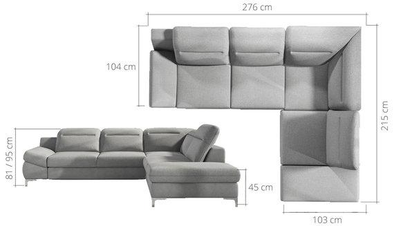 Ecksofa Schlafsofa Sofa Couch Bettfunktion Schlaf Polster Eck