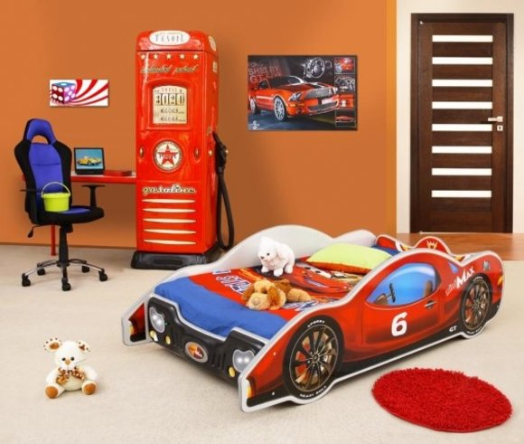 bett mit matratze kinderbett jugendbett auto bett betten mini max. Black Bedroom Furniture Sets. Home Design Ideas