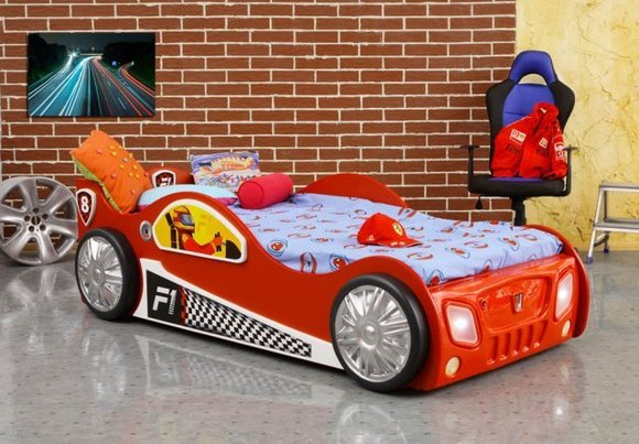 kinderbett mit matratze jugendbett auto bett betten sportwagen monza. Black Bedroom Furniture Sets. Home Design Ideas