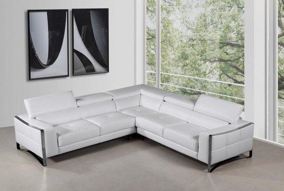 Ledersofa Couch Wohnlandschaft Ecksofa Eck Garnitur Design Modern