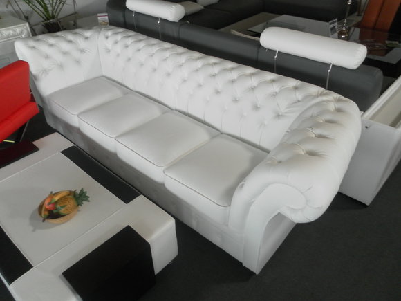 chesterfield 270cm big sofa couch leder sofa 5 sitzer. Black Bedroom Furniture Sets. Home Design Ideas